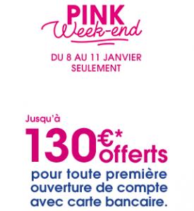Gagner 130€ avec Boursorama Banque: offre valable avant le 11 Janvier 2021